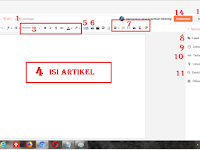 Cara Posting Artikel DI Blog