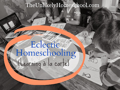 Eclectic Homeschooling (Learning a la Carte) with a helpful video explaining it all.