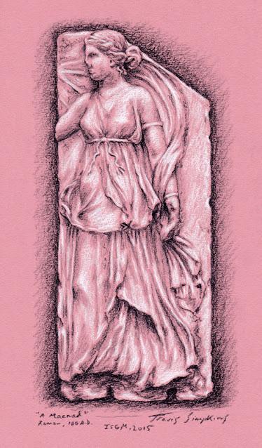 A Maenad. Ancient Roman. 100 AD. Isabella Stewart Gardner Museum. by Travis Simpkins