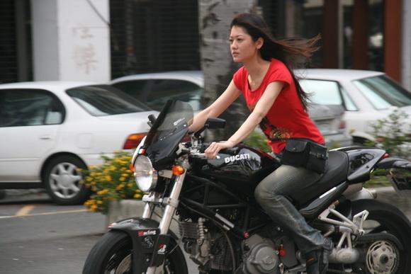 Asian riding big dick