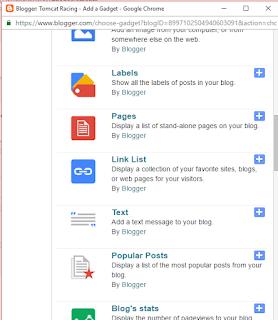 Cara Menambah Widget di Blogspot