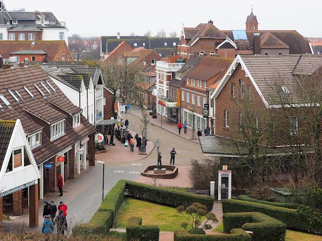 Langeoog, Dorf, Einkaufstraße, Hauptstraße