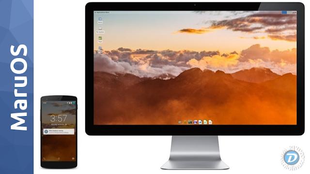 MaruOS - Debian Desktop no seu Smartphone