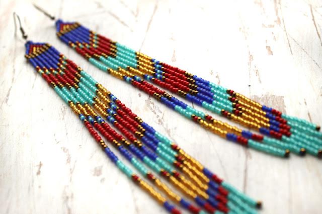 куплю серьги из бисера в этническом стиле интернет магазин бижутерии ручной работы