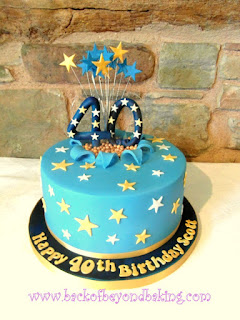 star explosion birthday cake