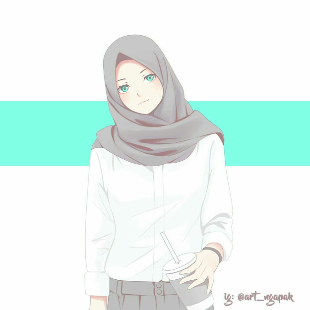 kartun muslimah cantik dan lucu