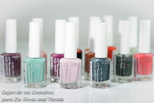 Esmaltes de uñas Acqualips