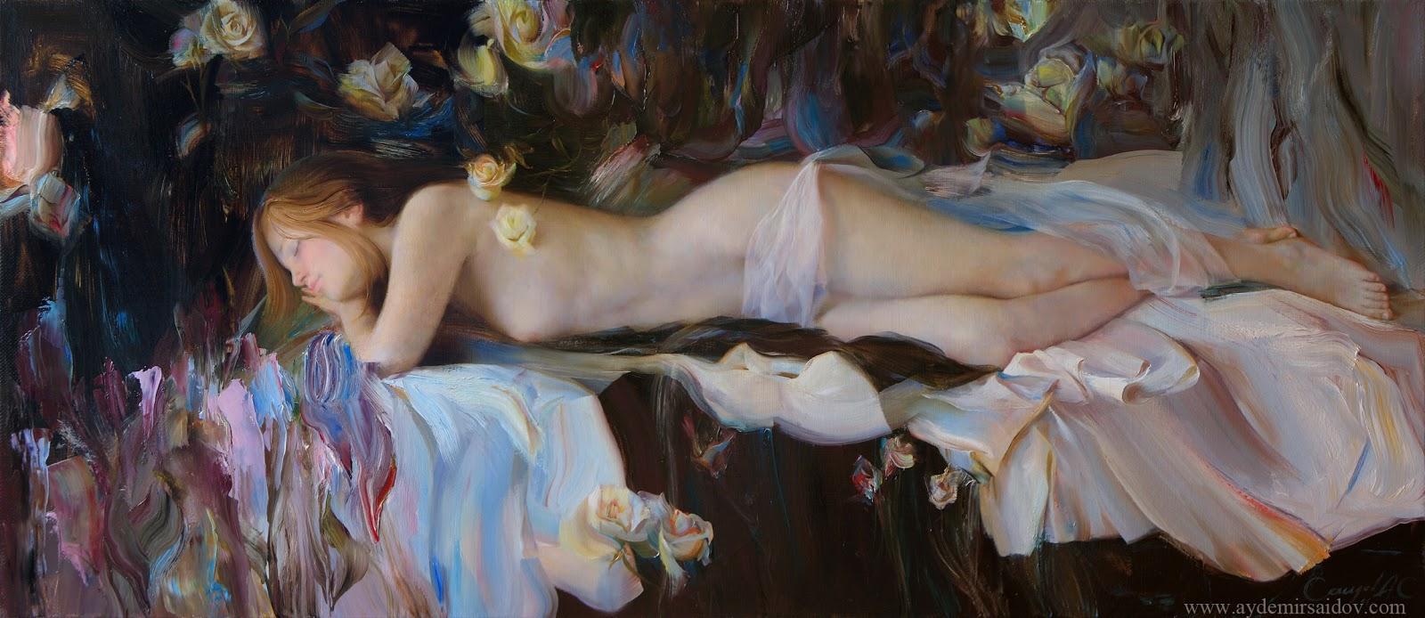 Hyperrealistic Oil Paintings by Aydemir Saidov - Sweet Dream (2011)