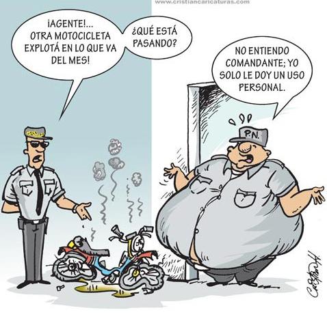 "Caricatura: ""Agentes fuera de forma"""