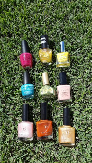 January 2017 nail polish declutter - www.modenmakeup.com