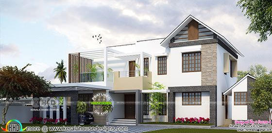 4 bedroom double storied Kerala residence