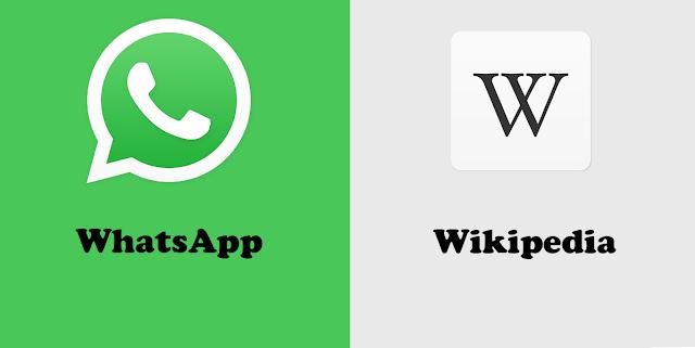 طريقة البحث عن المعلومات من على موسوعة ويكيبيديا من خلال الواتساب