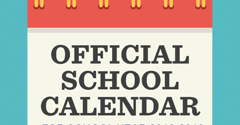 2018 school calendar for sy 2018 2019 printable pdf