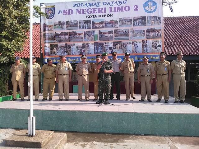Kompak, Danramil dan Forkopimda Kecamatan Limo Hadiri Upacara Bendera