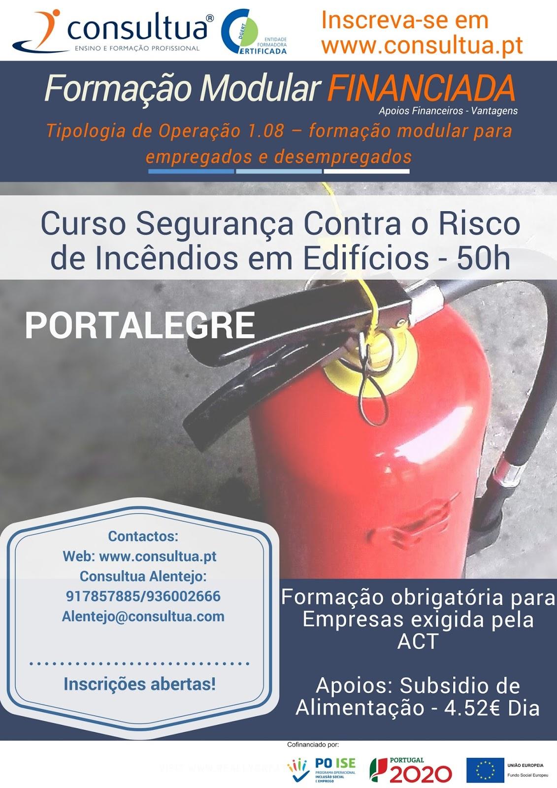 curso de segurança contra incêndios em Portalegre