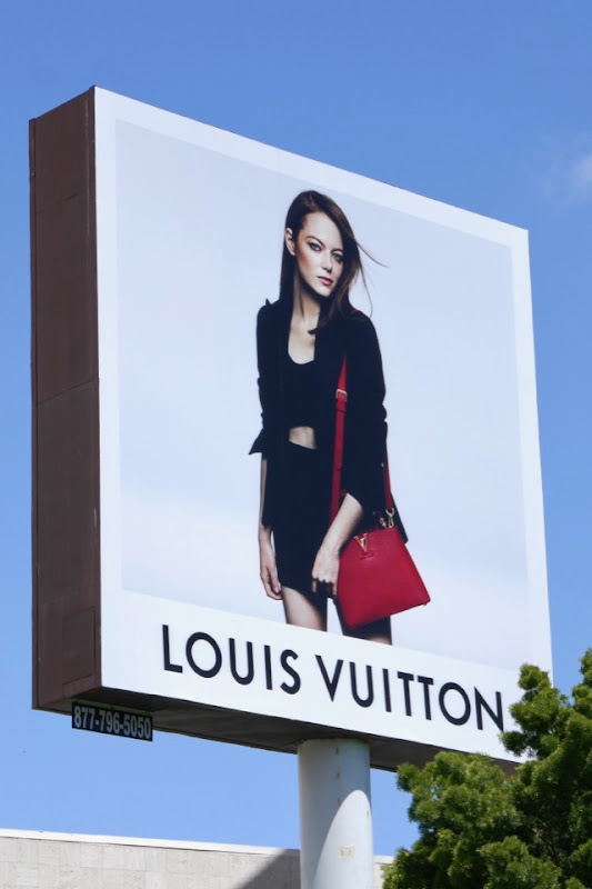 Emma Stone Louis Vuitton handbag billboard