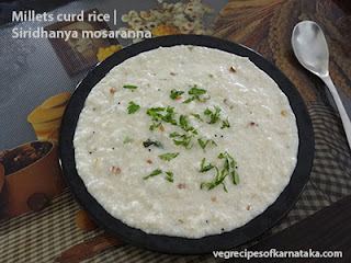 Siridhanya mosaranna recipe in kannada