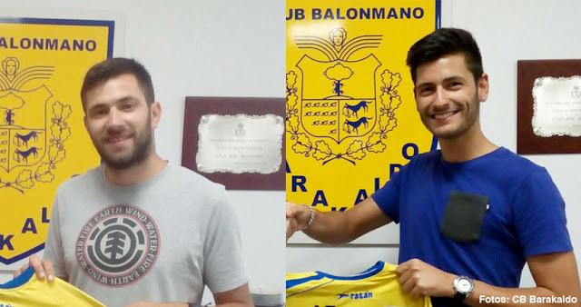 Balonmano | Los jugadores Eduardo José Barrio y Endika Martínez renuevan con el Barakaldo