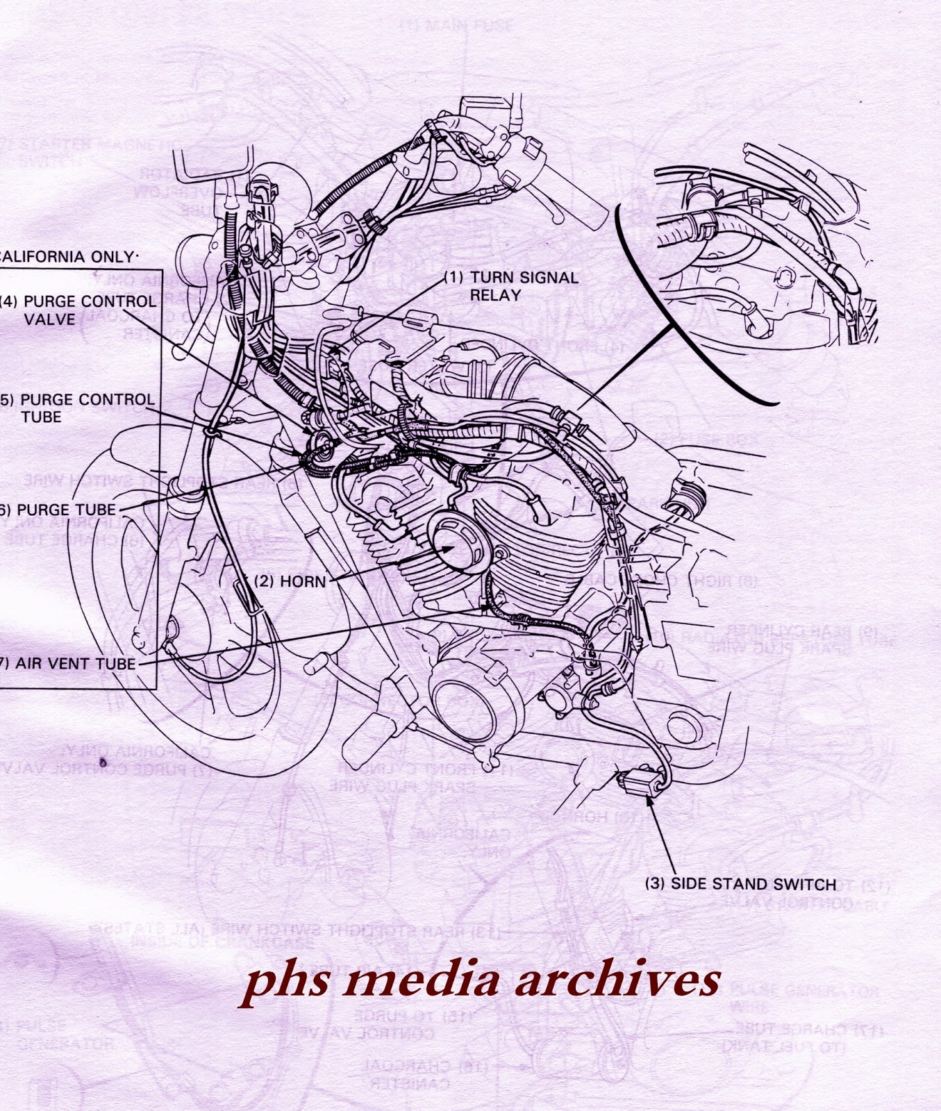 Diagram Of Honda Motorcycle Parts 2003 Vf750c Ac Wire Harness Diagram