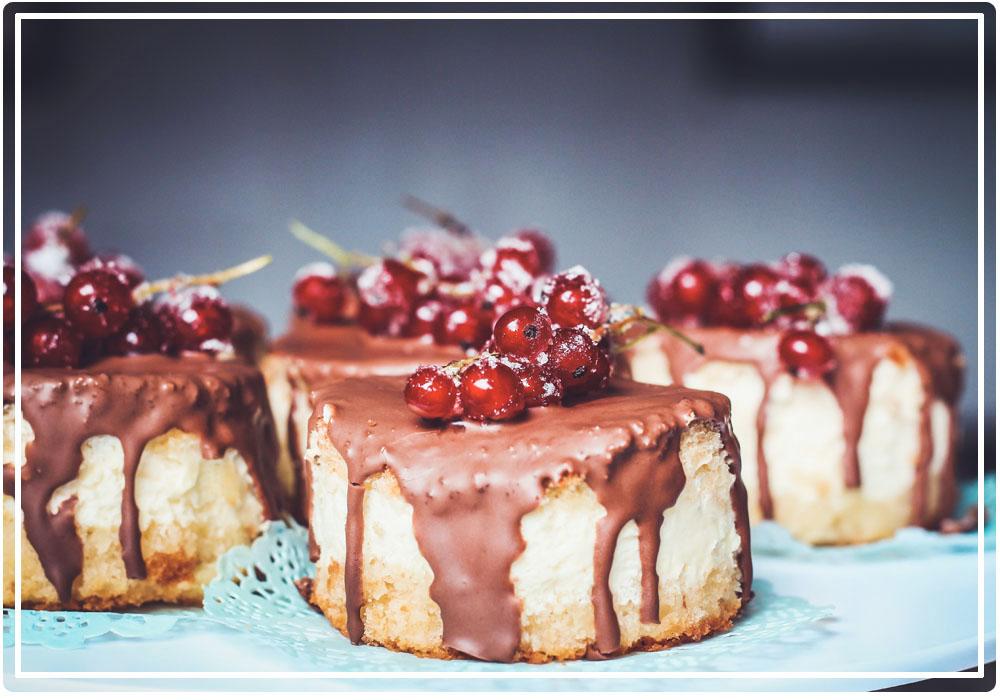 Gâteau nappé de chocolat