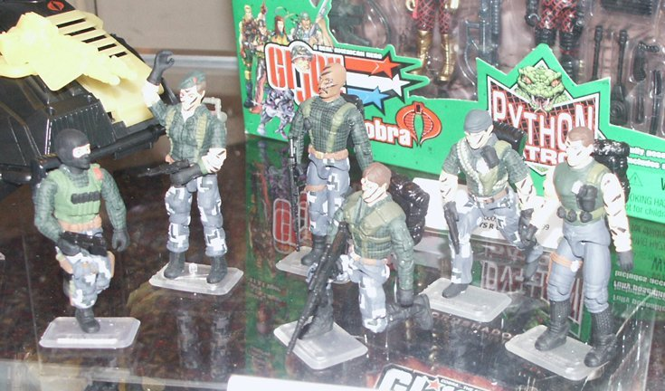 Hand Painted 2004 Night Force, Flint, Beach head, Short Fuse, Downtown, Tracker, Action Man, Tunnel Rat, Roadblock, TRU Exclusive