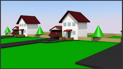 A block of houses extremely simple style