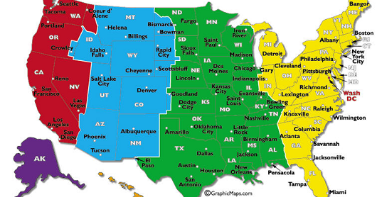 US Area Codes and Time Zones | HACK