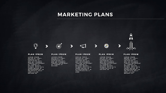 Infographic Marketing Plan Free PowerPoint Template Slide 7