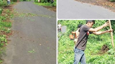 Merespon Jumpa JG-KWL, Hukumtua Makalisung Pimpin Pembersihan Ruas Jalan Provinsi