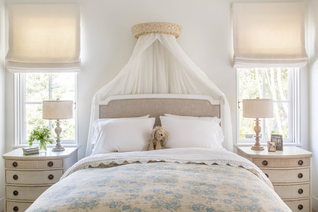 Beautiful modern farmhouse style bedroom inspiration (Giannetti Home) on Hello Lovely Studio
