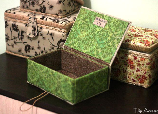 DIY Project: Jewellery Box of Cardboard Tutorial