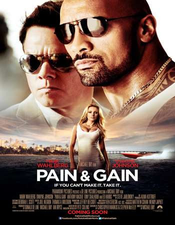 Poster Of Free Download Pain & Gain 2013 300MB Full Movie Hindi Dubbed 720P Bluray HD HEVC Small Size Pc Movie Only At worldfree4u.com