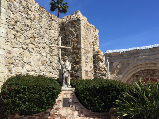 Mission San Juan Capistrano On A Sunny California Work Day