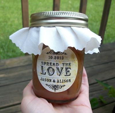 custom wedding jar label