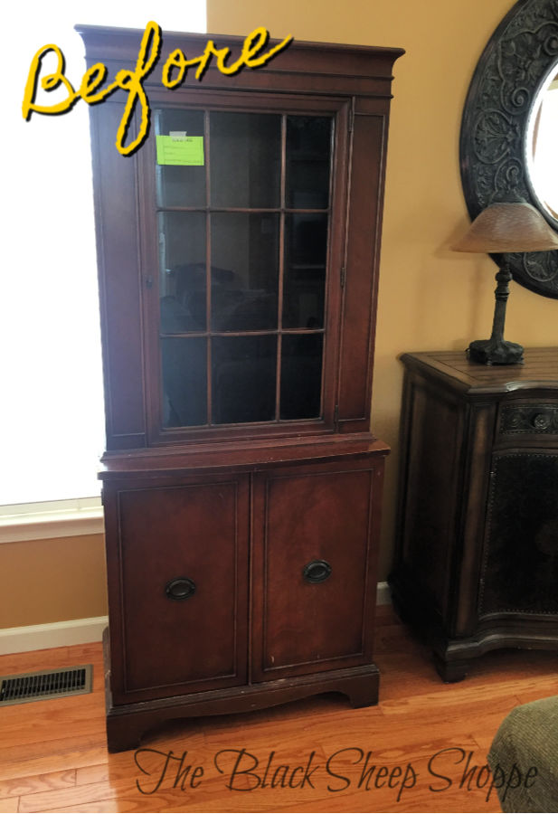 China cabinet before.