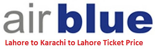 Air Blue Lahore to Karachi Ticket Price 2016 - Flight Schedule