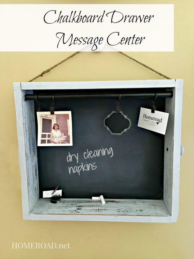 Chalkboard Drawer Message Center www.homeroad.net