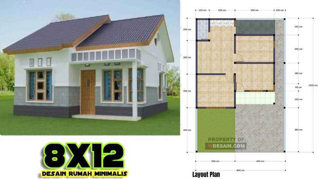 Desain Rumah 8x12 Kecil Mungil Untuk Keluarga Baru Desain Rumah Minimalis