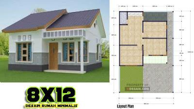 Desain Rumah 8x12 Kecil Mungil Untuk Keluarga Baru