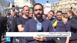 ما هي شعارات الحراك الشعبي للجزائريين المقيمين في فرنسا؟