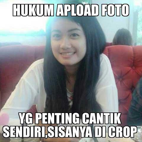 Gambar DP BBM Meme Sindiran Selfie
