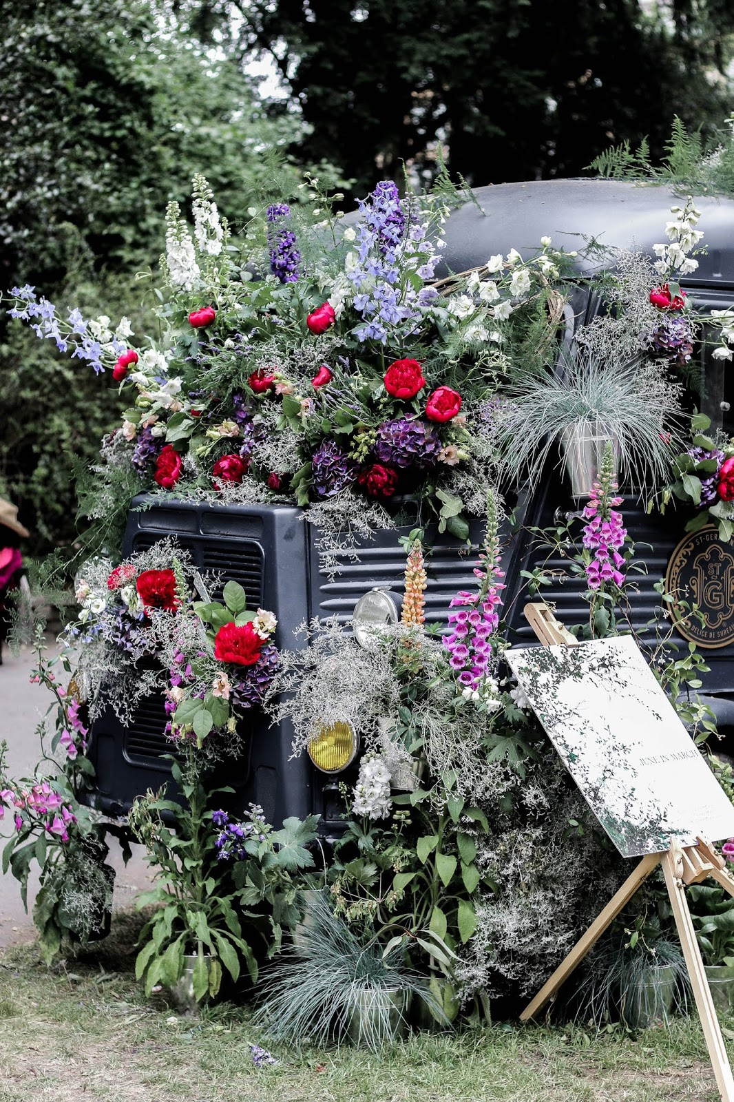 Vintage Truck Covered in Wild Flowers