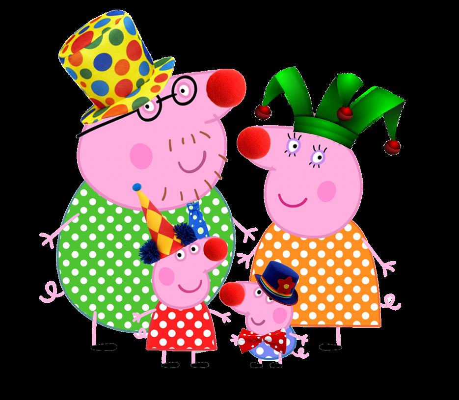 Kit De Aniversario Peppa Pig Vai Ao Circo Para Imprimir