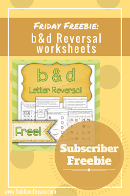Looking for free worksheets for b & d confusion?  Click on over for your download now!