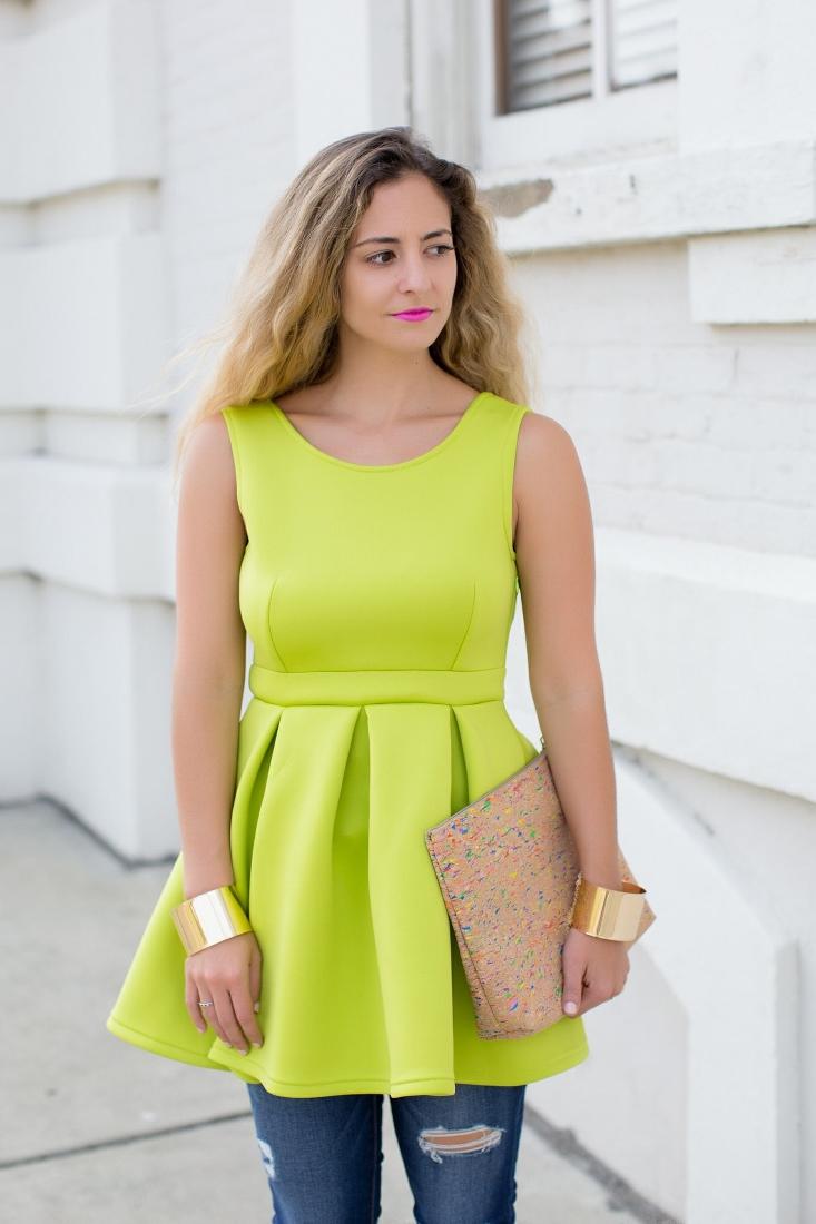 neon green skater top