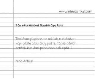 Membuat Blog Anti Copy Paste