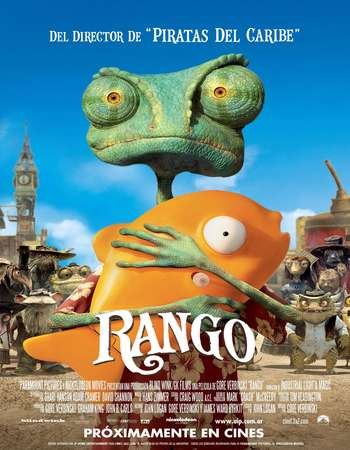 Poster Of Rango 2011 Dual Audio 350MB BRRip 480p ESubs Free Download Watch Online downloadhub.net
