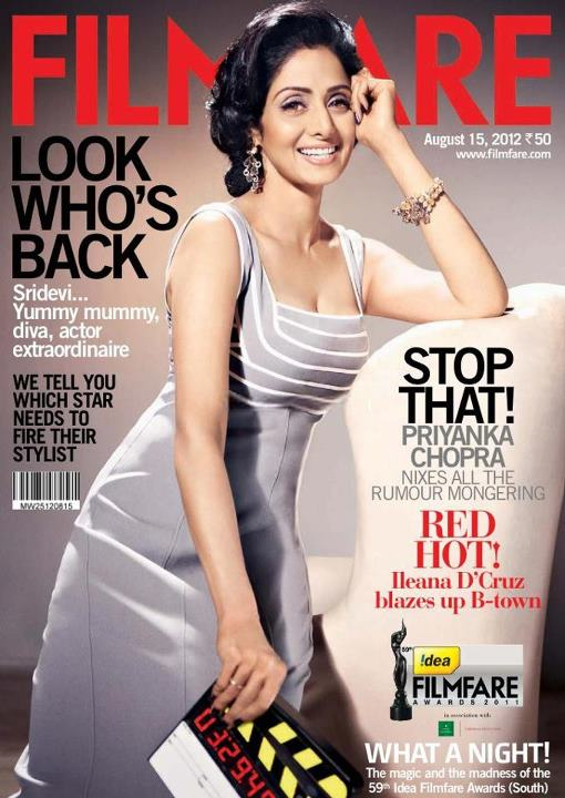 67ec81a1a0895 Sridevi is all set to create magic on the big screen again. Filmfare meets  the actress who's all set to rock.