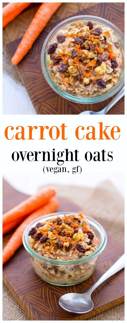 Vegan Carrot Cake Overnight Oats