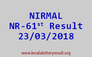 NIRMAL Lottery NR 61 Results 23-03-2018